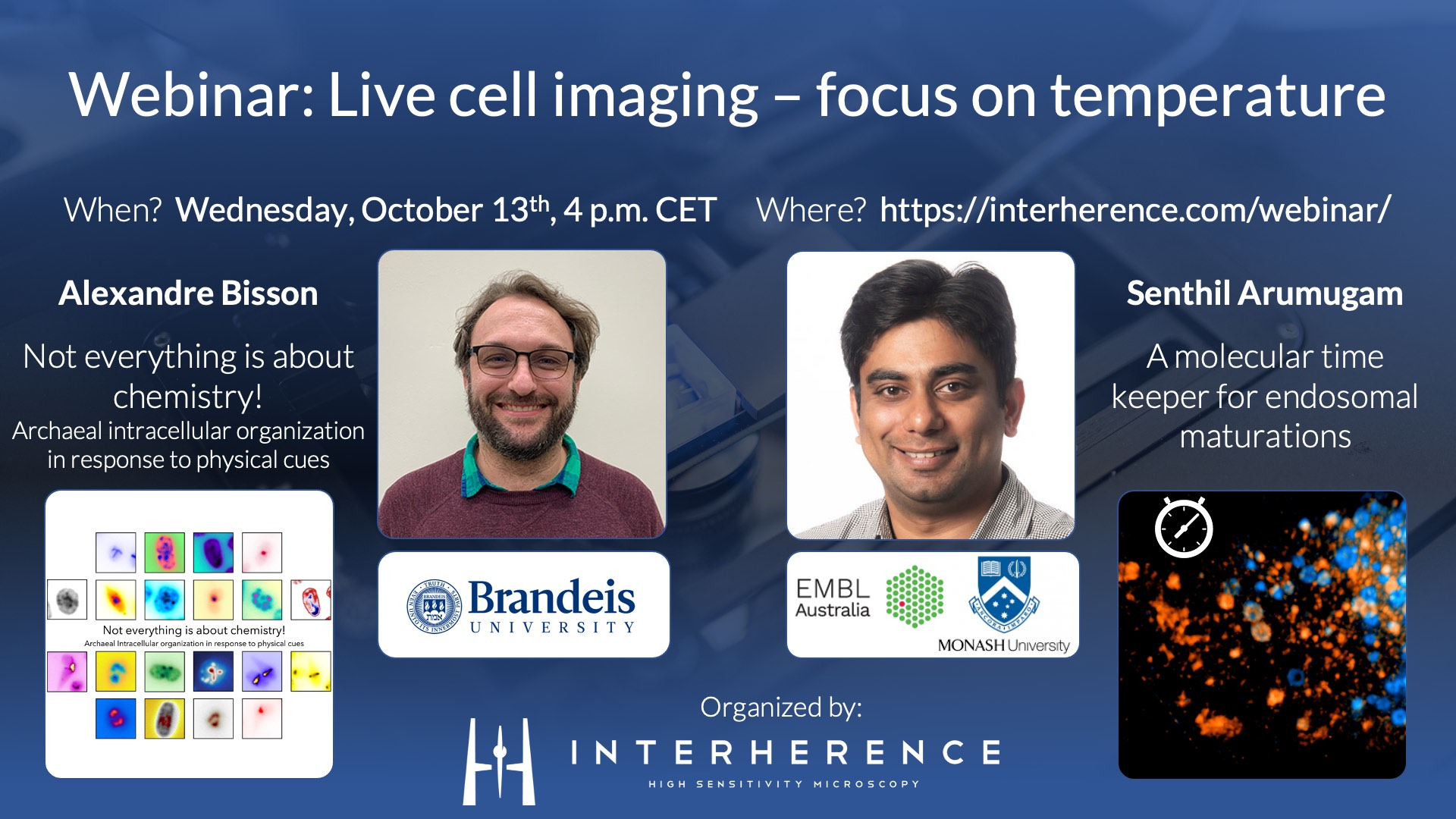 Webinar: Live cell imaging  – focus on temperature